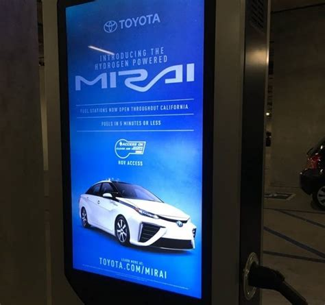 Toyota Ad Toyota Mirai Touted In Ad On Electric Car Charging Station