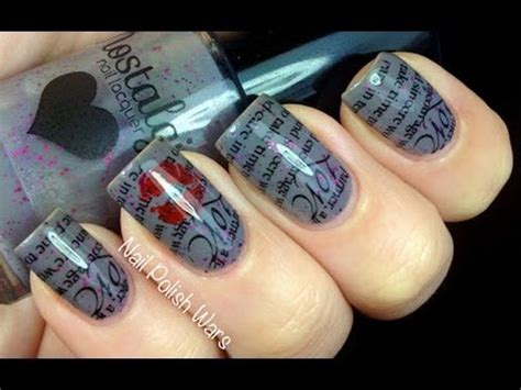 nail art konad tutorial love letter konad nail art tutorial sting nail