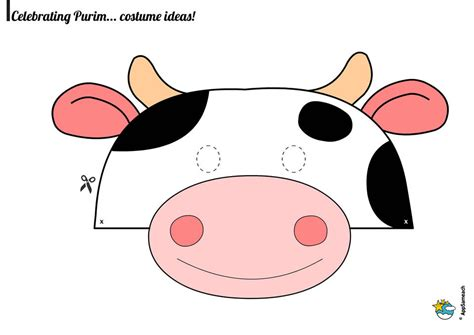 purim mask template purim cow mask traditions for appsameach
