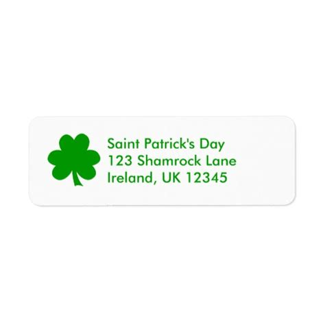 avery templates for return address labels shamrock avery label return address label zazzle