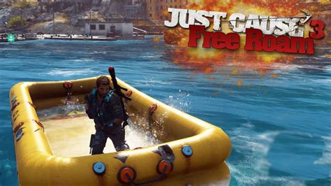 boats just cause 3 just cause 3 free roam secret inflatable boat just