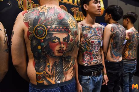 tattoo expo thailand งดงาม รอยหม กบนเร อนร าง ในงาน thailand tattoo expo 2018
