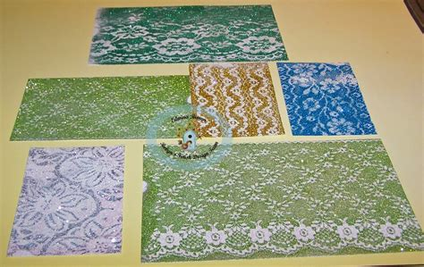 How To Make Lace Paper - edwina s creations how to make lace glitter background paper