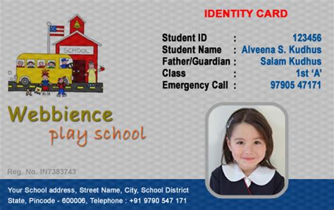 business id template id card software design student employee