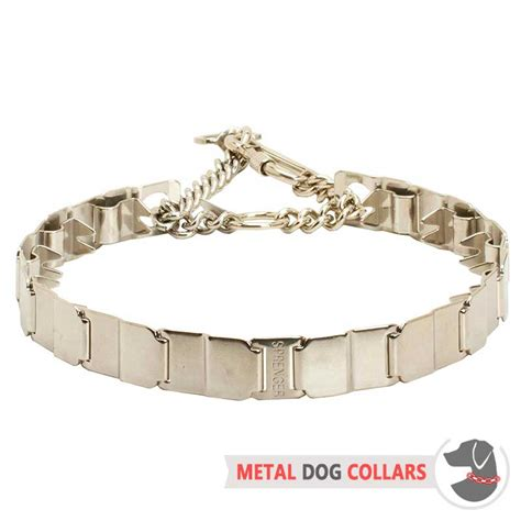 metal collars get stainless steel neck tech prong collar obedience