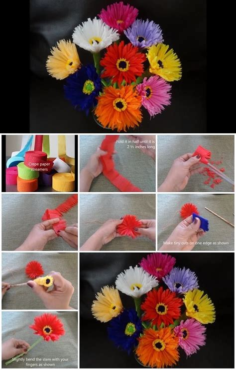 How To Make Paper Streamers - how to make paper flowers out of crepe streamers