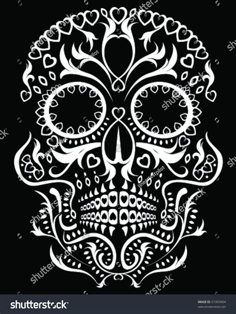 Day Of The Dead Skull Stock Vector Illustration 51969904 Day Of The Dead Skull Vector