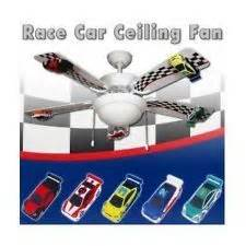 Nascar Ceiling Fan by Room Decor Race Car Ceiling Fan 52 Quot With Light Kit