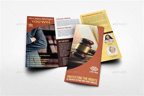 law firm tri fold brochure template by owpictures