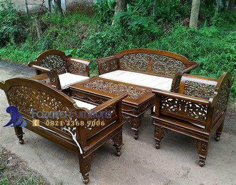 Kursi Tamu 1 Set kursi tamu ukir jati 1 set fazaira furniture mebel