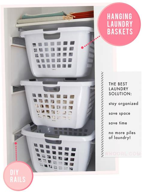laundry solutions this laundry storage idea for upstairs closet