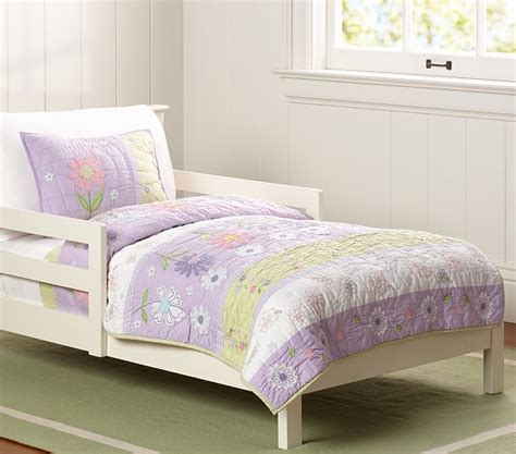 Quilted Toddler Bedding by Garden Toddler Quilted Bedding Pottery Barn