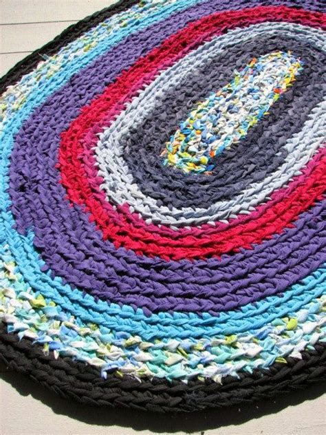 How To Make Handmade Rag Rugs - handmade oval rag rug home and garden shabby chic ooak
