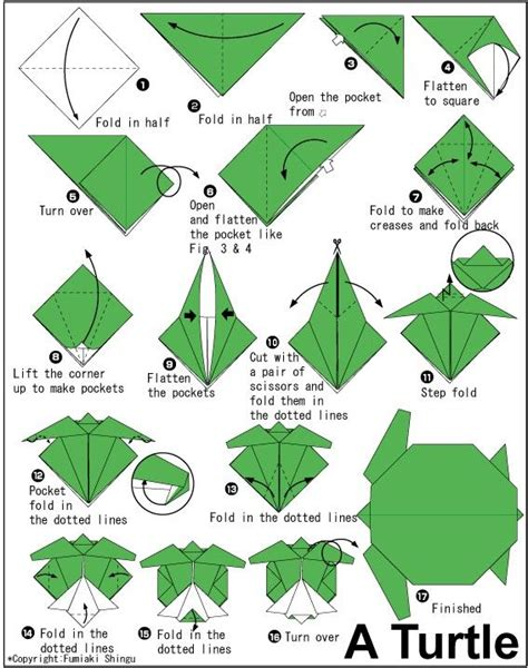 Tortoise Origami - origami turtle crafts are my
