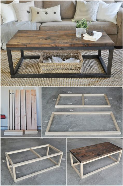 Wood Coffee Table Diy 20 Easy Free Plans To Build A Diy Coffee Table Diy Crafts
