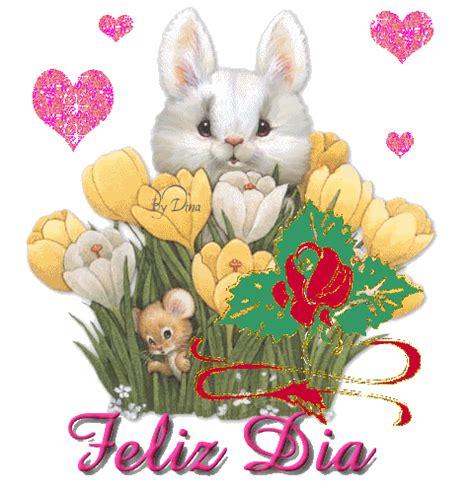 imagenes de feliz dia romanticas conejo de jardin