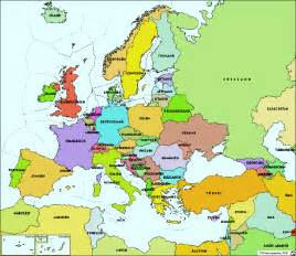 Europe On The Map by Atlas Of Europe Administration National States And Sea