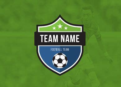 football team logo template free football club football team logo vector template