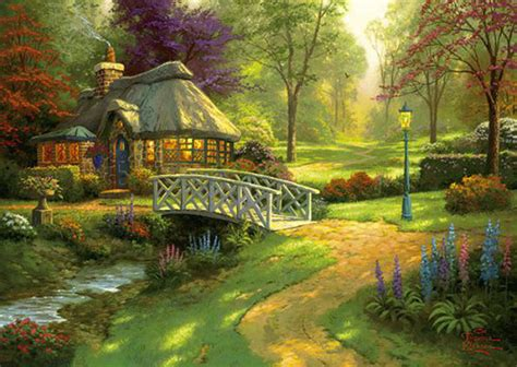 301 Moved Permanently Kinkade Cottage Painting