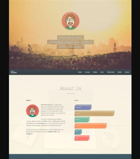 20 beautiful tumblr portfolio themes theme tie 20 free one page single column tumblr themes