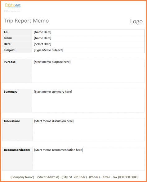 Trip Report Exle