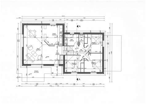 Plan D Architecte De Maison by Cuisine Plan Maison Moderne Gratuit Plain Pied Plan De