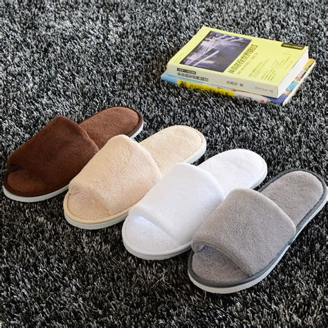 velvet house slippers new women men open toe winter slippers warm slippers coral