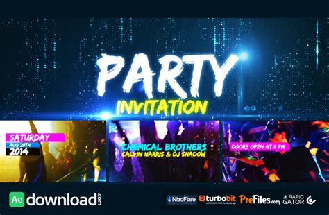 template after effects party free party invitation videohive project free download