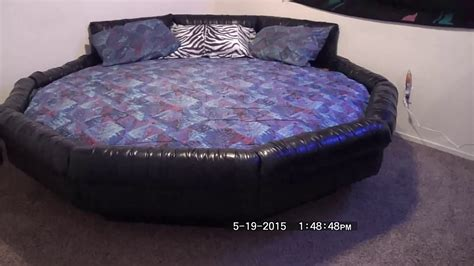 water beds bedroom 2 round waterbed assembly youtube