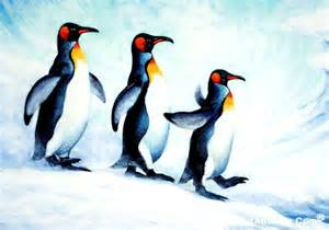 painting penguin penguin painting by richard ancheta