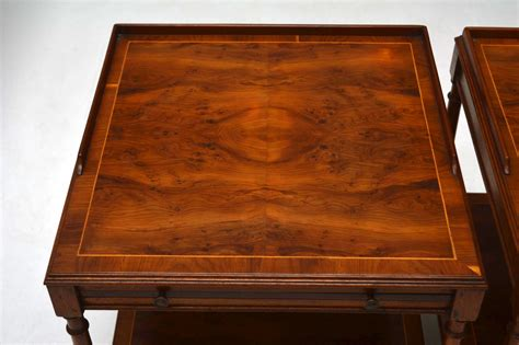 antique wood end pair of antique yew wood or l marylebone