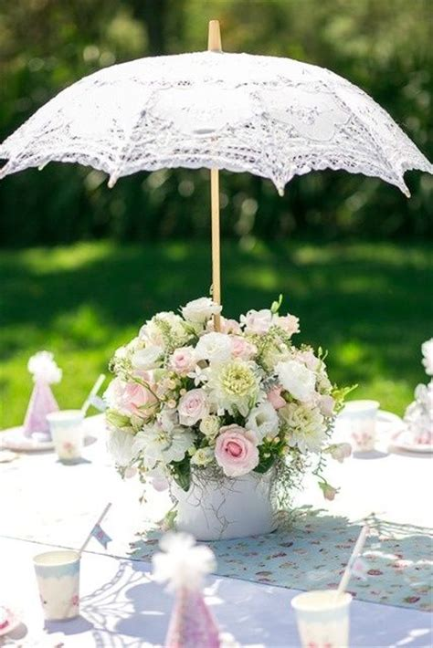 Non Traditional Bridal Shower Themes Team Wedding Blog Ready Made Wedding Centerpieces