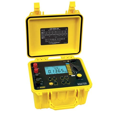 Micro Ohm Meter Aemc 6250 Micro Ohmmeter Advanced 10 Milliohmmeter