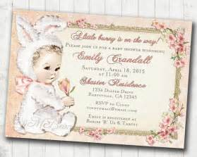 easter baby shower invitation for easter vintage baby shower invitation for bunny