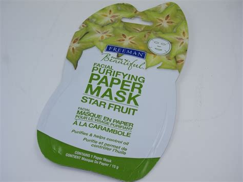 Freeman Cleanser Line freeman fruit purifying paper mask review