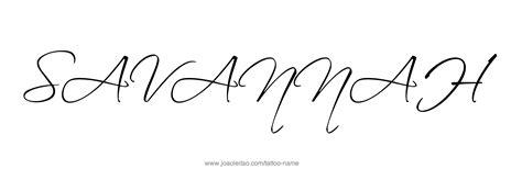 savannah tattoo name designs