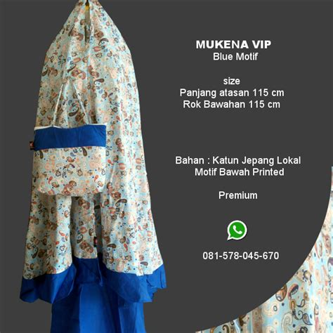 Grab Mukena Murah Distro Mukena Mukena Katun Bordir Kelilin 1 mukena vip blue motif grosir pesan mukena katun jepang