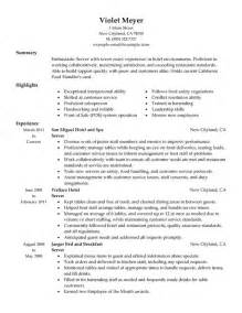 resume templates for servers server resume sle free jianbochen
