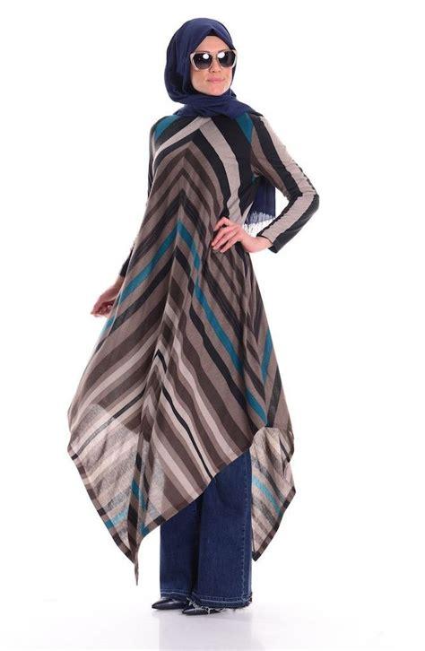 Blouse Muslim Mocca Atika Tunik sleeve shirt colors tile blue tile bronze tile beige orange size large material