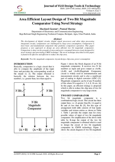 vlsi layout design tools journal of vlsi design tools technology vol 6 issue 3