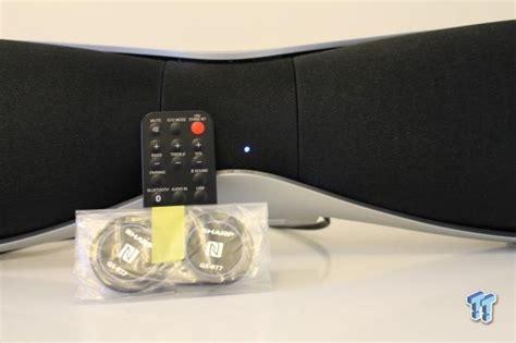 Sharp Nfc Bluetooth Speaker Gx Bt7 sharp gx bt7 2 1 channel wireless bluetooth speaker review