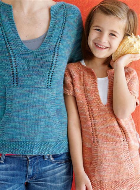 baby t shirt knitting pattern casual knitted t shirt for mom and daughter free knitting