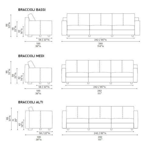 misure divano tre posti massimosistema divano a 3 posti by poltrona frau design