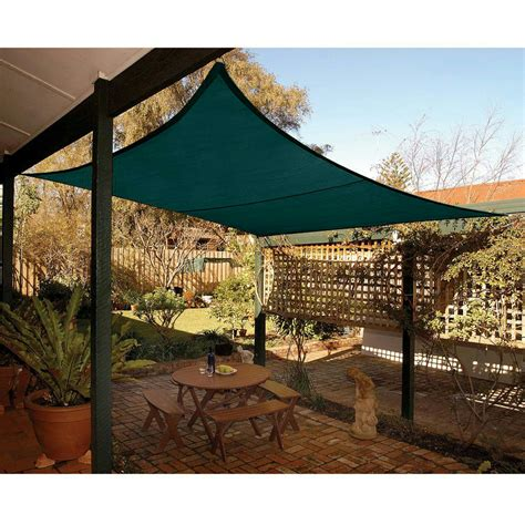 backyard sail canopy new 16 5x16 5 square sun sail shade canopy top cover outdoor patio garden green ebay