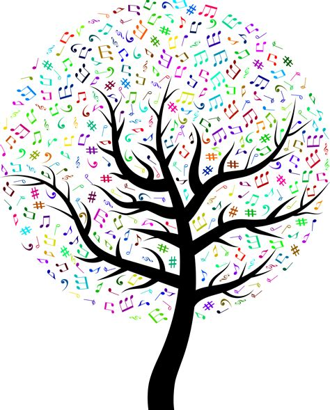 musical tree clipart prismatic tree