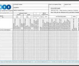 racking inspection checklist sema racking inspections