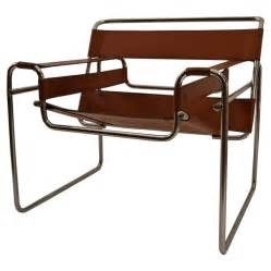 brown leather and chrome wassily chair at 1stdibs