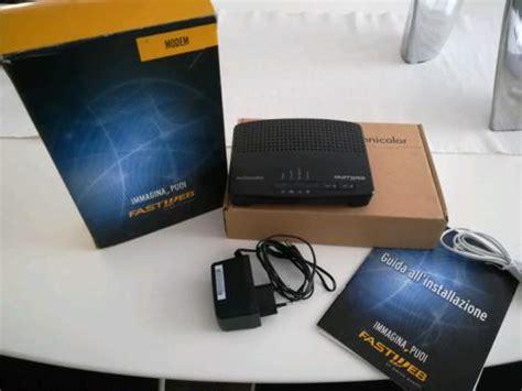alimentatore modem fastweb modem wifi technicolor tg582n posot class