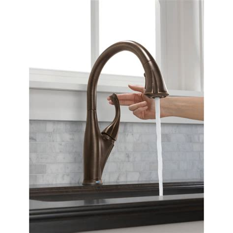 addison 9192t single handle pull down kitchen faucet with delta 9192t rb dst addison single handle pull down kitchen