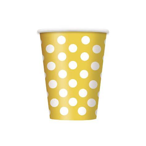 bicchieri carta bicchieri carta giallo a pois